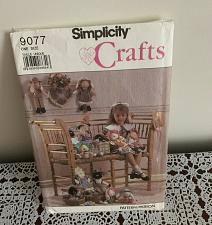 Buy Simplicity Craft Pattern 9077 Bunny Lamb Duck Toys Complete Cut For Charity