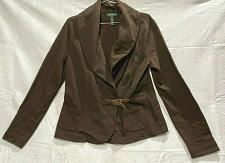 Buy Ralph Lauren women's cotton Blazer size M buckled front pockets