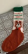 Buy Cute Knit Dog Dawg Gone Merry Christmas Stocking 22 Inch For Dog Rescue Charity