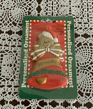 Buy Brand New MIP Vintage 1998 Stravina Personalized Ornament Bell with Bear BROOKE