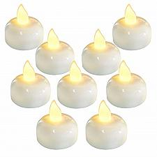Buy Homemory 24 Pack Waterproof Flameless Floating Tealights, Warm White Battery LED
