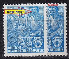 Buy GERMANY DDR [1956] MiNr 0453 I ( **/mnh ) [01] Plattenfehler
