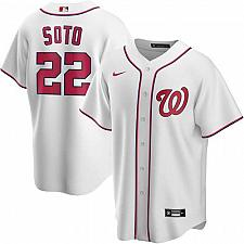Buy Juan Soto Washington Nationals White Home Replica Player Name Jersey Large