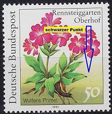 Buy GERMANY BUND [1991] MiNr 1506 F9 ( **/mnh ) Blumen Plattenfehler