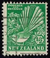 Buy New Zealand #203 Pied Fantail and Clematis; Used (2Stars)  NWZ0203-02XDP