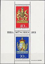 Buy GERMANY BUND [1973] MiNr 0766-0767 Block 9 ( **/mnh ) Wappen
