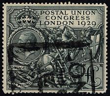 Buy Great Britain #209 St. George Slaying Dragon; Used (1Stars)  GBR0209-01XVK