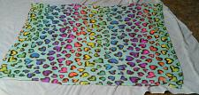 """Buy Polyester Fleece Throw Blanket With Multi-Colored Heart Design- 47""""×60"""""""