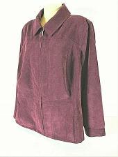 Buy CJ Banks womens Sz 3X L/S purple faux SUEDE zip up 2 pocket jacket (N)PMT