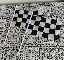 Buy Set of 2 Novelty 8 x 5 Inch Checkered Black and White Racing Stick Party Flags