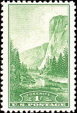 Buy 1934 1c Yosemite National Park, California Scott 740 Mint F/VF NH