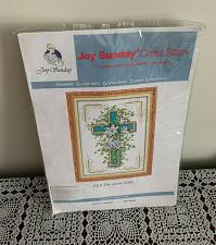 Buy Brand New Joy Sunday Counted Cross Stitch Kit J018 The Cross Lily 10 x 14