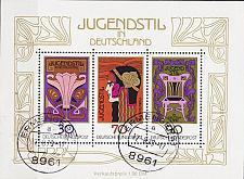 Buy GERMANY BUND [1977] MiNr 0923-25 Block 14 ( O/used ) Kunst