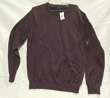 Buy J.Crew Men's cotton Blend sweater Crewneck Burgundy Size XL Nwot