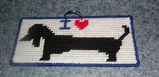 Buy Brand New Handmade Needlepoint I Love Black DACHSHUND Sign 4 Dog Rescue Charity