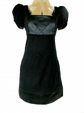 Buy Bebe women's size 4 black Square Neck quilted bodice stretch dress (O)pm