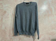 Buy zara man wool crewneck men's sweater worn once gray size L