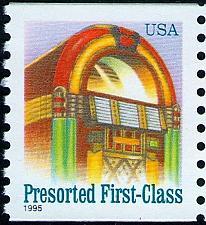 Buy 1995 25c Juke Box, American Designs, Coil Scott 2912 Mint F/VF NH