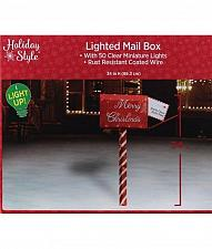 Buy Holiday Style Lighted Mail Box Outdoor Christmas Decoration