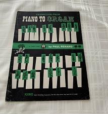 Buy Rare Vintage 1961 King Publishing Book Transition From Piano To Organ Baldwin