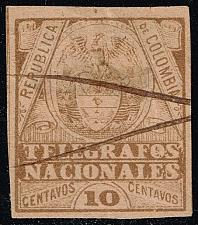 Buy Colombia Telegraph Stamp (Yvert #TE22); Used (3Stars) |COLTE22-01XRS