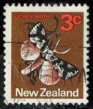 Buy New Zealand #442 Lichen Moth; Used (2Stars) |NWZ0442-01