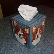 Buy Brand New Needlepoint Corgi Tissue Box Cover For Cocker Spaniel Rescue Charity