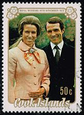 Buy Cook Islands #371 Princess Anne and Mark Phillips; CTO (3Stars) |COO0371-02XRS