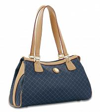 Buy Rioni Signature Navy Blue LARGE DUAL HANDLE BAG Handbag STA-20024