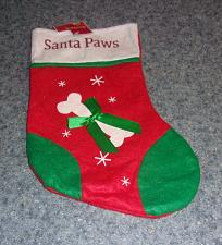 Buy Brand New Dog Christmas Stocking Santa Paws Design For Dog Rescue Charity