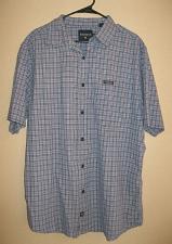 Buy Nautica Plaid Cotton Shirt Men Large Short Sleeve Button DownL