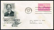 Buy Dwight D. Eisenhower Artcraft Cachet Inauguration Day Cover |USACVRLOT-26XDP