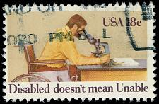 Buy US #1925 Int. Year of the Disabled; Used (2Stars)  USA1925-06