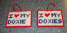 Buy Brand New Handmade Needlepoint Sign I Love My DOXIE DOXIES Dachshund Sign Rescue