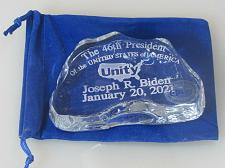 Buy Biden Limited edition Unity paperweight iceberg 46th President 24% lead crystal