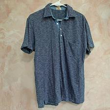 Buy Faherty polo shirt short sleeve navy striped