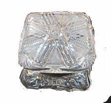 Buy ABP Crystal Cut Glass covered square dresser box