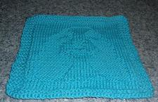 Buy Brand New Hand Knit Cocker Spaniel Dog Blue Dish Cloth For Dog Rescue Charity