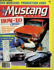 Buy July 1986 Issue Mustang Monthly Magazine For Dog Rescue Charity