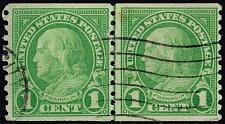 Buy US #597 Benjamin Franklin Joint Line Pair; Used (1Stars) |USA0597jlp-01XDP