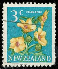 Buy New Zealand #386 Hibiscus Flower; Used (1Stars) |NWZ0386-02