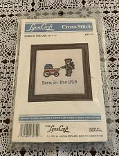 Buy Brand New Vintage Lynn Craft Counted Cross Stitch Kit 23-79 Born In The USA 5 In