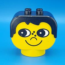 Buy Lego Duplo Figure Head Boy 2 x 2 Black Hair Freckles Chunky Yellow