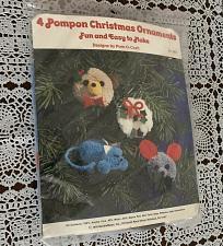 Buy Vintage 1978 Needlemagic Pompom Christmas Ornaments Craft Kit 7812 Pom O Craft