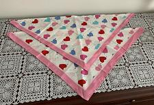 Buy Two Brand New Pink and White Heart Design Dog Bandanas For Dog Rescue Charity