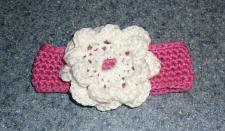 Buy Brand New Crocheted Pink and White Flower Design Dog Collar 4 Dog Rescue Charity