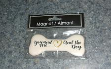 Buy Brand New Bone Shaped Ceramic You Me And The Dog Magnet For Dog Rescue Charity