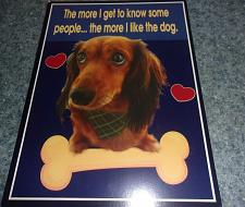 Buy Cute Dachshund Wooden Plaque The More i Like My Dog For Dog Rescue Charity