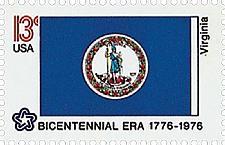 Buy 1976 13c Virginia State Flag, Bicentennial Era Scott 1642 Mint F/VF NH