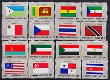 Buy UNO New York [1981] MiNr 0343-88 ( **/mnh ) Flaggen II